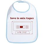 Love Is Mix Tapes Bib