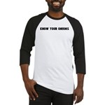 Know your onions Baseball Jersey