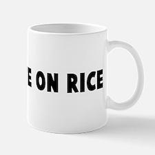 Like white on rice Mug
