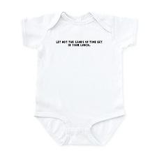 Let not the sands of time get Infant Bodysuit