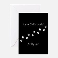 It's a cat's world Greeting Card