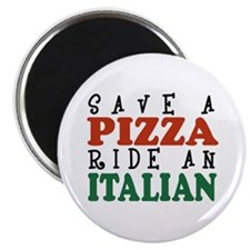 Save a Pizza Ride an Italian Magnet