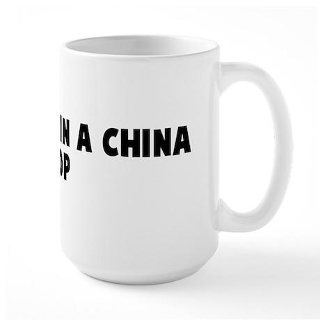 Like a bull in a china shop Large Mug