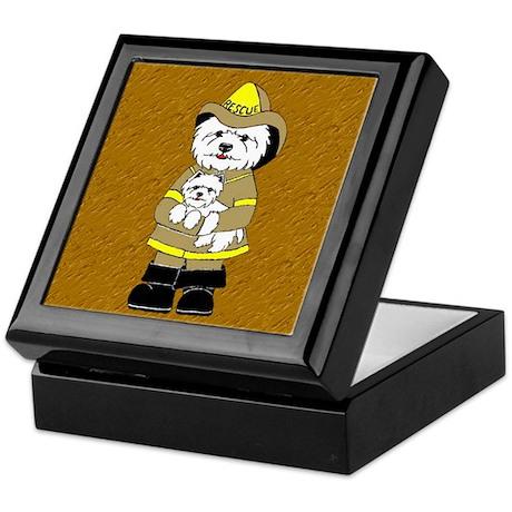 Nat'l Westie Rescue Gold Logo Keepsake Box