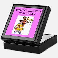beautician gifts t-shirts Keepsake Box