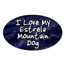 Funky Love Estrela Mountain Dog Oval Decal