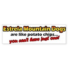 Potato Chips Estrela Mountain Dog Bumper Bumper Sticker