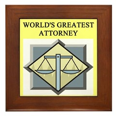 attorney lawyer gifts t-shirt Framed Tile