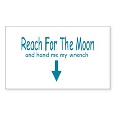 Reach for the moon.. Rectangle Decal