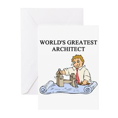architect gifts t-shirts Greeting Cards (Pk of 20)