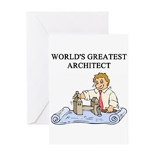 architect gifts t-shirts Greeting Card