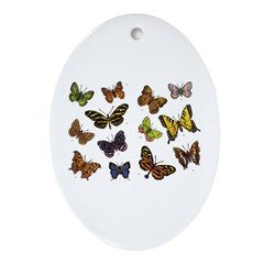 Butterfly 5 Oval Ornament