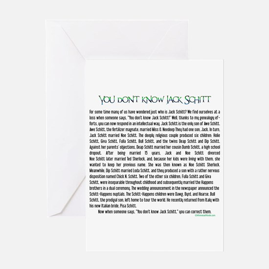 YOU DON'T KNOW JACK SHITT Greeting Card