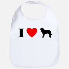 I Heart Estrela Mountain Dog Bib