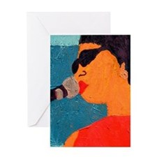 Licking the Chops Greeting Card