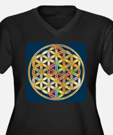 Flower Of Life gold colored II Plus Size T-Shirt