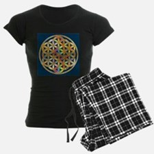 Flower Of Life gold colored II Pajamas