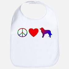 Peace Love Estrela Mountain Dog Bib