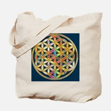 Flower Of Life gold colored II Tote Bag