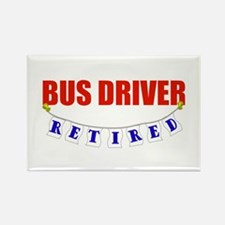 Retired Bus Driver Rectangle Magnet