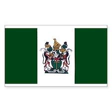 Rhodesian Flag Rectangle Decal