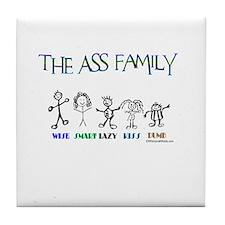 THE ASS FAMILY Tile Coaster