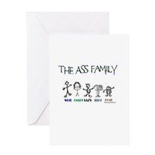 THE ASS FAMILY Greeting Card