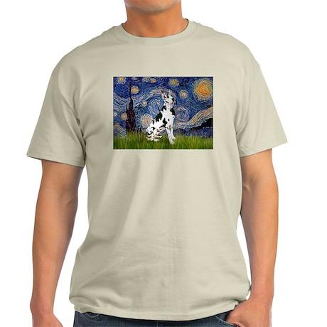 Starry Night & Great Dane (Harl.) Ash Grey T-Shirt