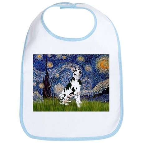 Starry Night & Great Dane (Harl.) Bib