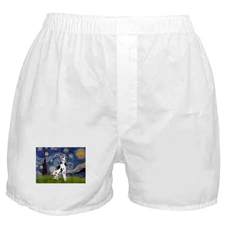 Starry Night & Great Dane (Harl.) Boxer Shorts