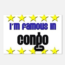 I'm Famous in Congo Postcards (Package of 8)