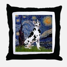 Starry Night & Harlequin Grea Throw Pillow
