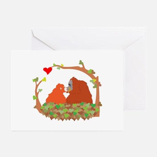 Cute Orangutan Greeting Cards (Pk of 10)