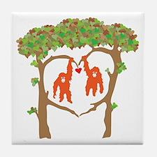 Cute Orangutan Tile Coaster