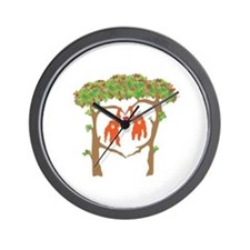Cute Orangutan Wall Clock