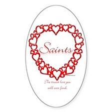 Saint True Oval Decal