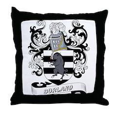 Borland Coat of Arms Throw Pillow