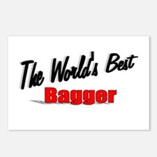 """""""The World's Best Bagger"""" Postcards (Package of 8)"""