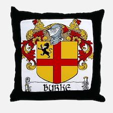 Burke Coat of Arms Throw Pillow