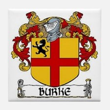 Burke Coat of Arms Tile Coaster