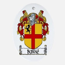 Burke Coat of Arms Ornament (Oval)