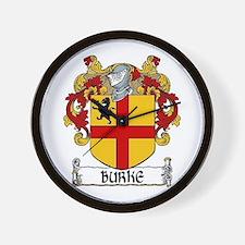 Burke Coat of Arms Wall Clock