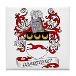 Bradstreet Coat of Arms Tile Coaster