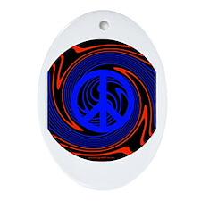 Peace Oval Ornament