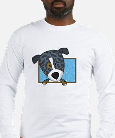Cartoon Catahoula Leopard Dog Long Sleeve T-Shirt