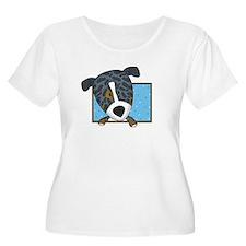 Cartoon Catahoula Leopard Dog Women's Plus Tee