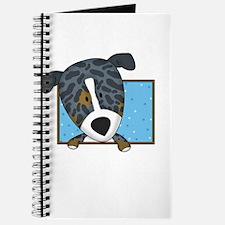 Cartoon Catahoula Leopard Dog Journal