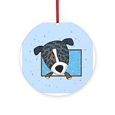 Cartoon Catahoula Leopard Dog Ornament (Round)
