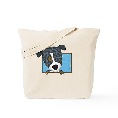 Cartoon Catahoula Leopard Dog Tote Bag