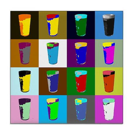 Pop Art Beer Tile Coaster